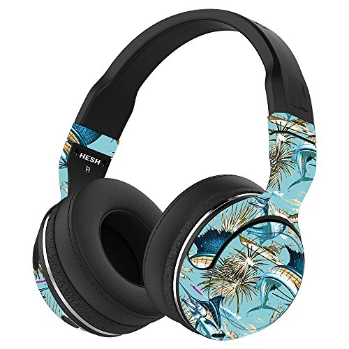 MightySkins Skin Compatible with Skullcandy Hesh 2 Wireless Headphones - Island Fish | Protective, Durable, and Unique Vinyl wrap Cover | Easy to Apply, Remove, and Change Styles | Made in The USA