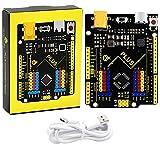 KEYESTUDIO UN0 R3 Tarjeta Placa con Cable Type C y Microcontrolador Compatible con Arduino IDE