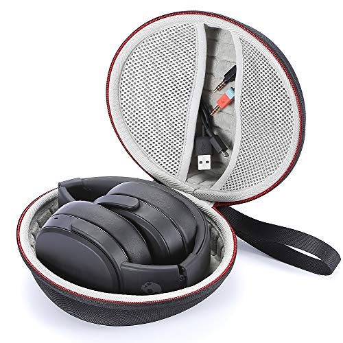 Hard Carrying Case for Skullcandy Crusher, Skullcandy Hesh 3 Bluetooth Wireless Over-Ear Headphones, Travel Carrying Storage Bag - Black