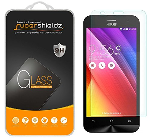 (2 Pack) Supershieldz Designed for Asus ZenFone 2 (5.5 inch) (ZE550ML, ZE551ML) Tempered Glass Screen Protector, 0.33mm, Anti Scratch, Bubble Free