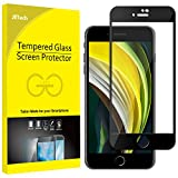 JETech Screen Protector for iPhone SE 2020, iPhone 8 and iPhone 7, 4.7-Inch, Full Coverage Tempered Glass Film (Black)