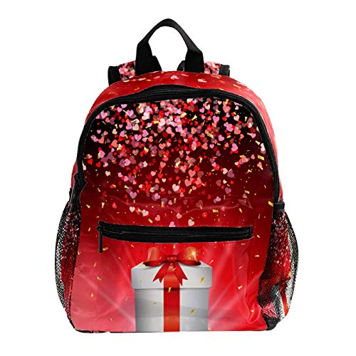 Kid Child Girl Cute Patterns Printed Backpack School Bag,Valentines Day Gift Box Love Pattern