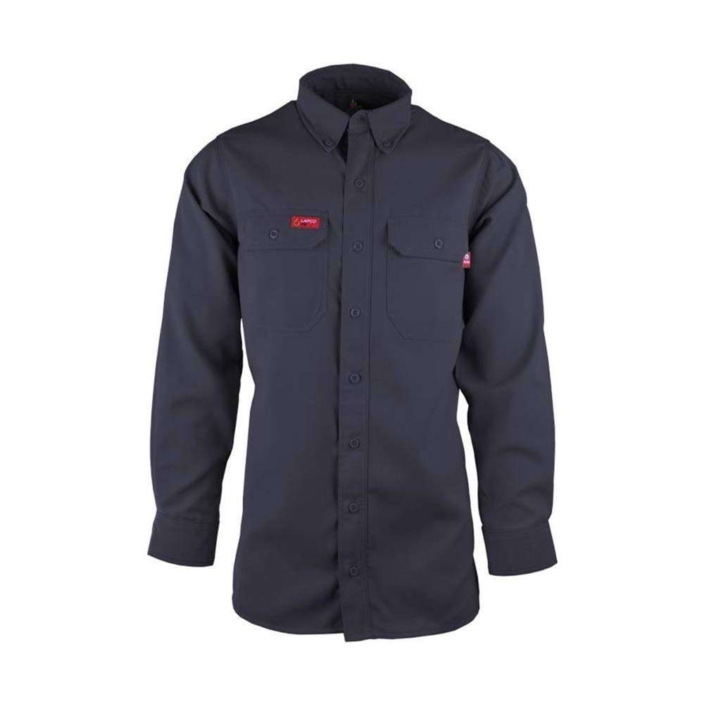 Lapco FR 6.5oz Westex Inventory cleanup selling Free shipping on posting reviews sale DH Uniform Shirt Navy Regular - 3X-Large