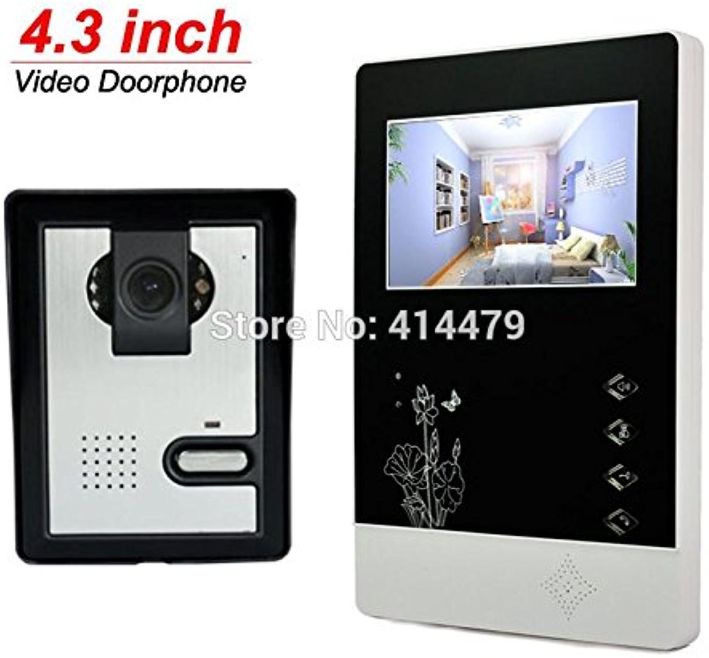 HITSAN Home Video doorphone intercom Set 4 3 inch tft Screen 600tvl Night Vision rain Proof Call Speakerphone Camera