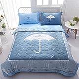 Funda nórdica de verano y 2 fundas de almohada de 1,5 tog, diseño de dibujos animados, lavable a máquina Trendy Quilt cama para sillas o sofá 033 (color: C, tamaño individual)