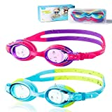🐬 High Visibility Anti-fog Lenses: An anti-fog coating is applied on the lenses so they won't get steamy; 180° clear view lenses make sure your child is always aware of his or her surroundings Note: Do not wipe the inside of the kids swimming goggles...