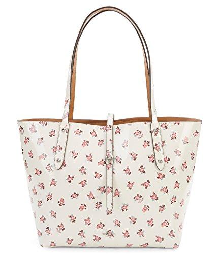 Coach Floral Bloom Printed Market Tote Sv/Chalk Multi