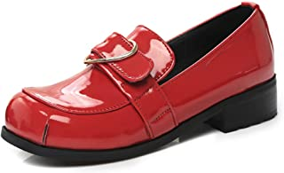 VulusValas Women Trendy Square Toe Loafers Shoes