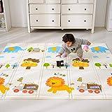 Bammax Tappeto Gattonamento, Tappeto per Bambini in Schiuma, Pieghevole Schiuma Doppia Faccia Impermeabile, 197 * 177 * 1.5cm