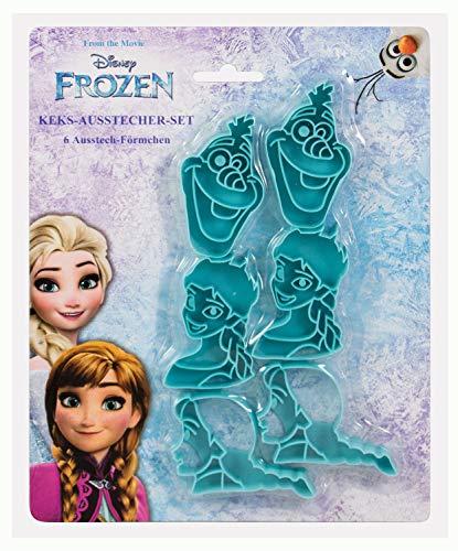 POS 28290 - Keks Ausstecher Set Disney Frozen, 6 Stück, Elsa, Anna und Olaf, aus Kunststoff, bpa- und phthalatfrei, spülmaschinengeeignet, ideal zum Backen und Ausstechen von Plätzchen
