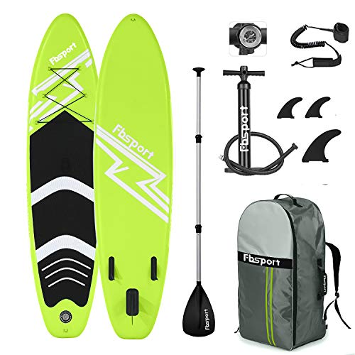 Premium Inflatable Stand Up Paddle Board (6 inches Thick) with Durable SUP Accessories & Carry Bag | Wide Stance, Surf Control, Non-Slip Deck, Leash,...
