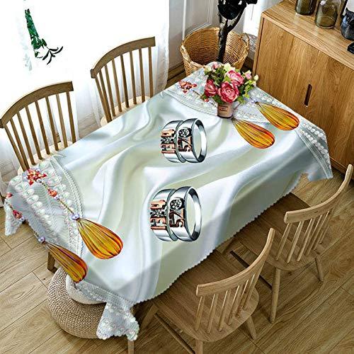 Aututer 3D-Tischdecke, buntes Papierblumenmuster, staubdichte, Dicke Baumwolle, Hochzeit, Party, rechteckige Tischdecke
