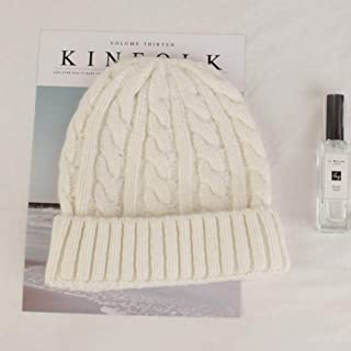 MZHHAOAN Knitted Hats for Women,Woolen Cap Female Autumn and Winter Solid Color Knit Hat,Thickening Earmuffs Twist Cap
