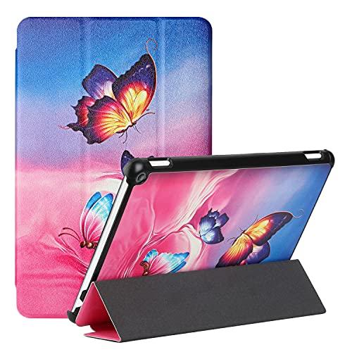 AChris Funda Samsung Galaxy Tab S7 FE/ S7 Plus/ S7+ 12.4' 2020 Funda de Cuero PU con Modo Automático de Reposo/Actividad Trífold Función de Soporte Magnético Protectora a Prueba de Golpes