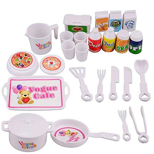 Eleganantimpresionante juego de 25 piezas/set de juguetes pretendidos para cocina, juego de casa para niños, juego de juguete mini de simulación de cocina, herramientas de educación temprana, juguetes
