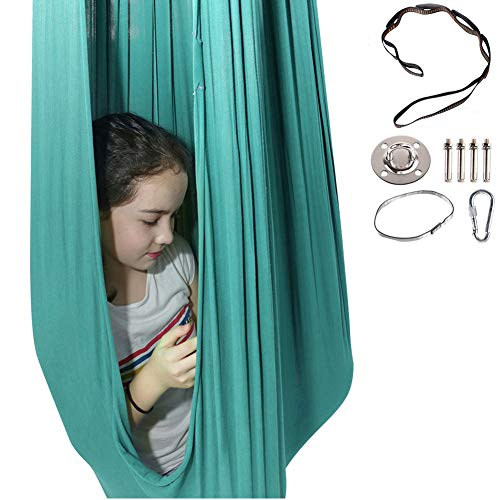M/P Therapy Swing Cuddle Elastic Hammock for Kids Child with Autism, ADHD, Aspergers and Sensory Integration, Widened 150Cm Anti-Gravity Yoga Snuggle Swing