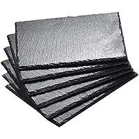 MALACASA Serie Nature.Slate Platos de Pizarra Natural, 6 Piezas, 40,6 cm, Pizarra de Queso, Bandeja Buffet Placa