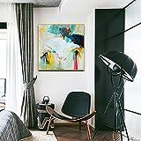 Color Abstracto Nórdico Bloquea La Pintura Al Óleo - Pintado A Mano Minimalist Home Decor Mural Club Hotel Villa Vestíbulo Pasillo Sala Colgando Regalos Sin Marco, Estilo C,100X100Cm (40X40Inch)