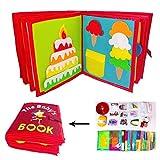 KiGoing Jouet Montessori Livre Tissu Bébé Montessori,Livre en Tissu pour Enfants Non-Woven Picture Book Manual Livre en Trois Dimensions - pour L'éducation Précoce Développement Cognitif