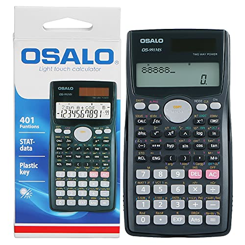 SXTWFY Scientific Calculator 401Funtions with Case, LCD Calculators Large Display for School, Battery Solar Calculadora Cientifica for Financial, Construction, Statistics, Engineering, Geometry