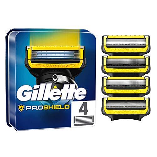 Gillette ProShield Rasierklingen, 4 Ersatzklingen für Nassrasierer Herren mit 5-fach Klinge