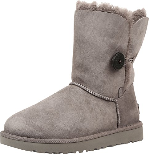 UGG Damen W BAILEY BUTTON II Schneestiefel, Grau (GREY), 39 EU