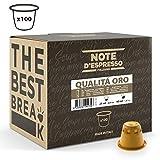 Note D'Espresso - Cápsulas de café 'Qualità Oro' exclusivamente compatibles con cafeteras Nespresso*, 5,6g (caja de 100 unidades)
