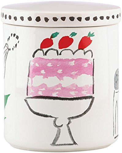 KSNY All in Good Taste Pretty Pantry Canister Large, White