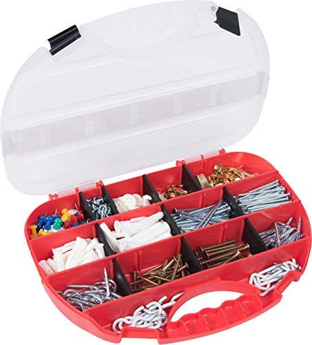 Connex assortimentsdoos – voorgesorteerde onderdelen in praktische kunststof doos – geschikt voor huis, werkplaats & Co. / assortimentsdoos/klein ijzerassortiment Huishoudelijk assortiment