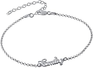 MyNameNecklace Name Ankle Bracelet Custome Made in Sterling Silver or 18k Gold Plating
