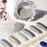 1Boîte Laser Poudre de paillettes Miroir Décoration Ongles Chrome