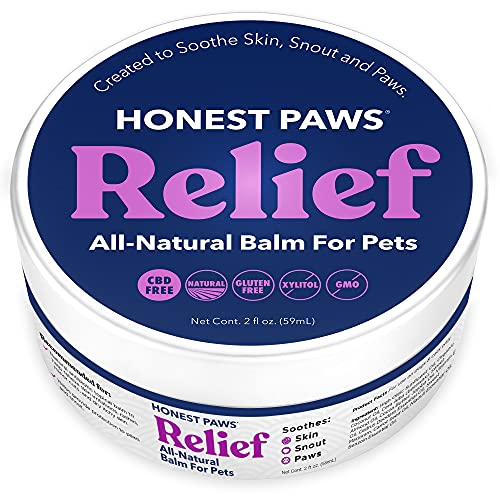 Honest Paws Relief - Dog Paw Balm - Paw Soother and Protection - Paw Pad Moisturizer Wax - All Natural Balm for Pets - Dog Foot and Palm Butter - Heals, Repairs, Moisturizes Pet Paws and Noses