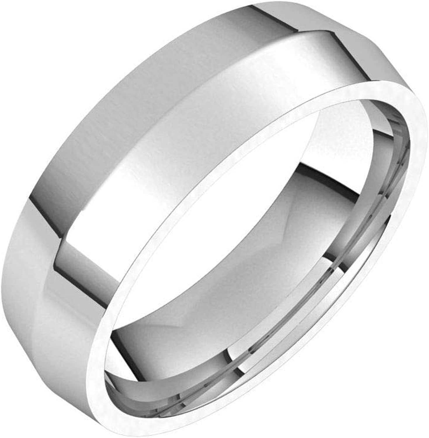 Diamond2Deal Sterling Silver Spring new work 6 mm Comfort Knife Seattle Mall Fit Edge Wedding