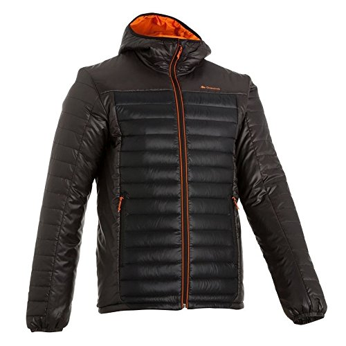 Quechua Men's Polyamide Down Jacket(108123_Black_S)