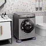 Almohadillas antivibración para pies de 4 piezas, alfombrilla para lavadora, almohadilla antivibración, secadora, base de refrigerador, almohadilla antideslizante fija, gris 40 * 100 MM