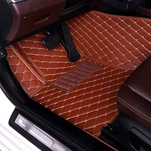 Tappetini auto per BMW Serie 1 2 3 4 5 6 7 Per X1 X2 X3 Per X4 X5 X6 X7 Z4 M1 Per M3 M4 X5M Custom Auto Foot Pads Automobile (colore : Marrone)