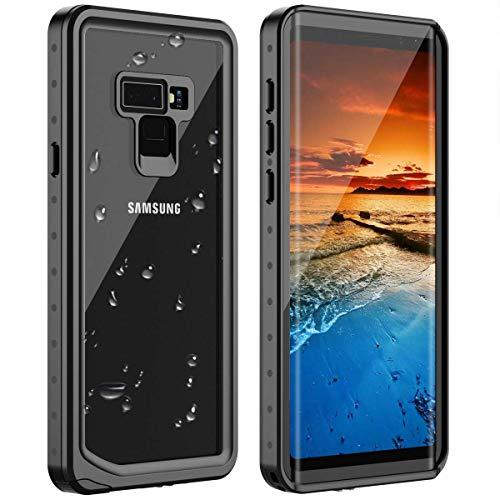 Huakay Samsung Galaxy Note 9 Waterproof Case Galaxy Note 9 case, Shockproof Snowproof Dirtproof IP68 Waterproof Case for Samsung Galaxy Note 9 (Black/Clear)