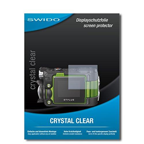 SWIDO Schutzfolie für Olympus TG-Tracker [2 Stück] Kristall-Klar, Hoher Härtegrad, Schutz vor Öl, Staub und Kratzer/Glasfolie, Displayschutz, Displayschutzfolie, Panzerglas-Folie