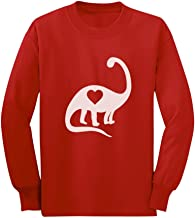 Dinosaur Love Heart Cute Toddler/Kids Long Sleeve T-Shirt