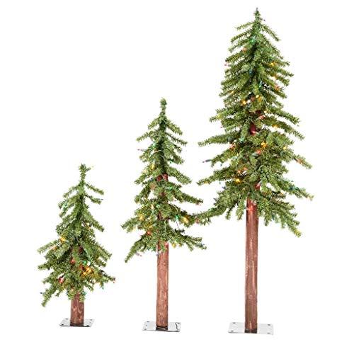 Vickerman Natural Alpine Tree, 2' 3' 4', Green