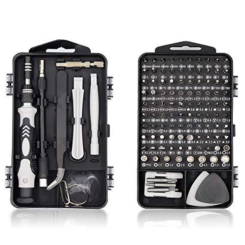 Mini Schraubendreher Set, 117 in 1 Feinmechaniker Set, Werkzeug set, Präzisionsschraubendreher Set für iPhone, Laptop, Tablet, Uhren, Kamera, usw (Rot)