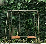 Miniature Dollhouse Fairy Garden Furniture ~ Rustic Metal & Wood Swing Set ~ New