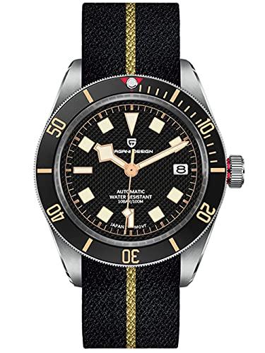Pagani Design Black Bay 58 Relojes automáticos para Hombres Reloj de Pulsera mecánico Informal de Negocios Reloj Deportivo 100M Impermeable para Hombres Bisel de cerámica Japón NH35A Reloj Luminoso…