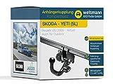 Weltmann 7D220003 geeignet für Skoda YETI (5L) - Abnehmbare Anhängerkupplung inkl. fahrzeugspezifischem 13-poligen Elektrosatz