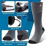 CAVEEN Beheizbare Socken für Damen und Herren, Beheizte Socken mit Akku Baumwolle Heizsocken Beidseitige Beheizung 3 Gänge Fußwärmer Erwärmbare Socken für Zuhause Outdoor Sports(L) - 2