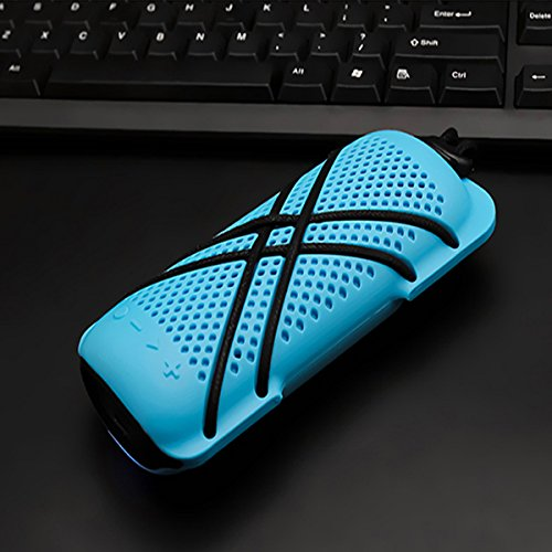 Inovey Ipx7 Wasserdichter Bluetooth Wireless Lautsprecher Mini Voice Box Telefon Anruf Lautsprecher Sport Travel -Blue