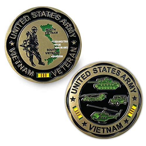 VetFriends.com US Army Vietnam Challenge Coin with Huey