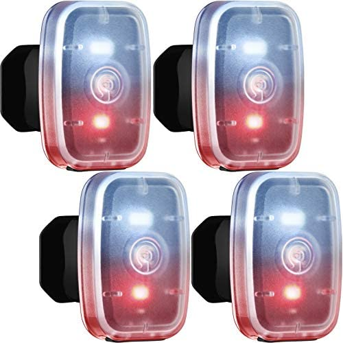 4 Pieces LED Safe Light USB Rechargeable Running Light Clip on Strobe Light with 5 Lighting product image