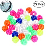 VORCOOL 72 UNIDS Rueda de Bicicleta Granos del Rayo Clip Luminoso Spoke Bead Decorations (Color de la Mezcla)