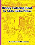Disney Coloring Book for Adults Hidden Picture: full size sketch coloring activity book interior design for adult watercolor pencil drawing artists (Line Art Coloring Books for kids to adults)